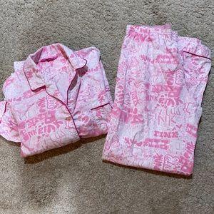Victoria secret PINK pj set size M VGUC